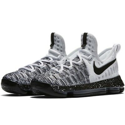 204753e105c1 Nike Zoom KD 9 GS Oreo White Black Grey Durant Basketball Shoes Kids 6y 6  Youth