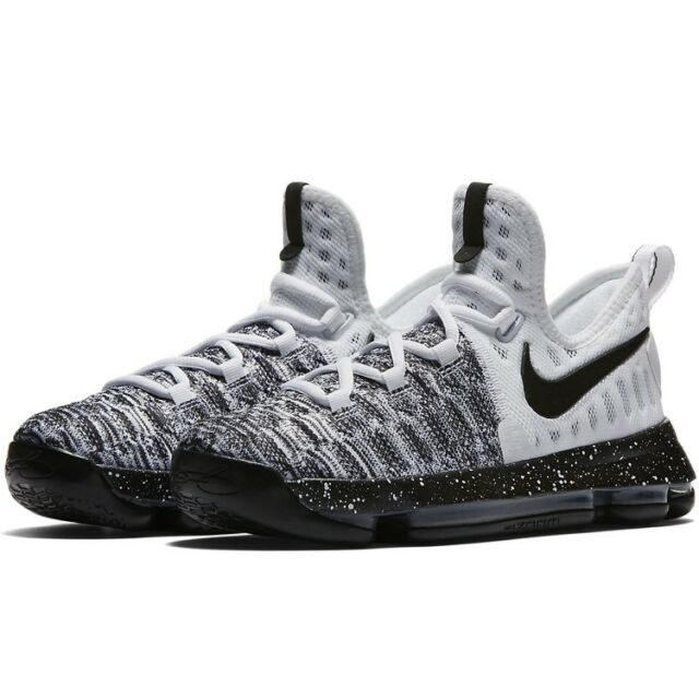 new styles 6ab72 5162c Nike Zoom KD 9 GS OREO White Black Grey Durant Basketball Shoes 855908-100  Sz
