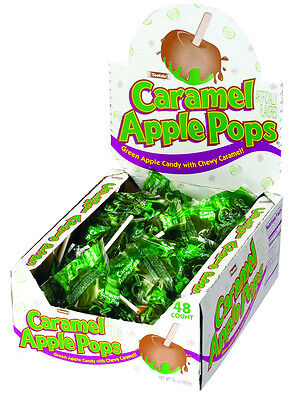 Case Lot Tootsie Roll Brand Caramel Apple Lollipops Lolipops - 48 count