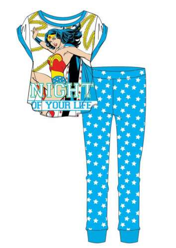Donna Ragazze DC Comics Wonder Woman superhero Lounge Set Blu Pigiama Pjs 8-22