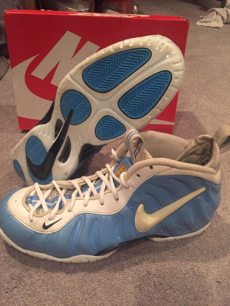 Nike Air Foamposite Pro University bluee White Carolina UNC Size 12