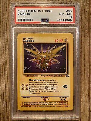 NM Zapdos 30//62 Fossil Unlimited Pokemon Card WotC