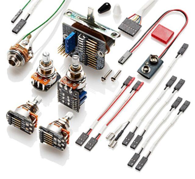 emg 3 pickup conversion wiring kit ppp push pull ebay rh ebay com emg solderless wiring kit les paul emg wiring kit uk