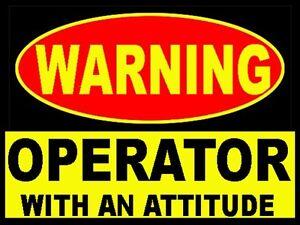 warning operator w/attitude, CO-4