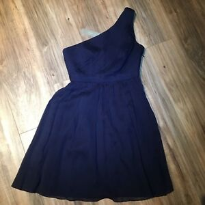 6be4deded9ff1 J.Crew Kylie Petite Dress Dark Cove Blue $250 Bridesmaid Cocktail ...