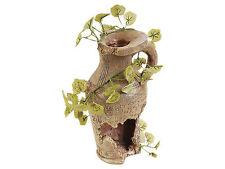 Ancient Egyptian Broken Pot Vase & Plants Fish Cave Aquarium Terrarium Ornament