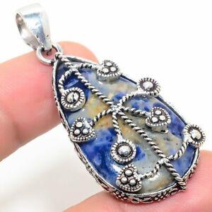 """Orange Sodalite Handmade Ethnic Style Jewelry Pendant 1.97 """" SS-561"""