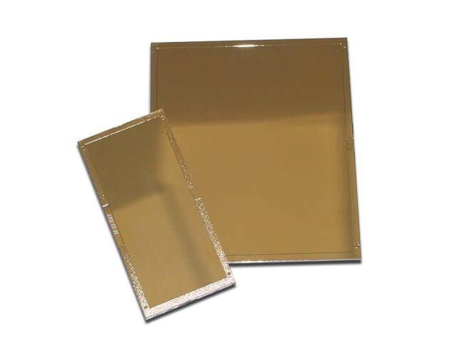 """Gold glass welding helmet filter plate 2 x 4 1//4/"""" Shade 10 hardened glass"""