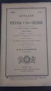 Rivista Beiblatter N° 8 Zu Den Annalen Der Physik Und Chemie 1894 Lipsia Verlag