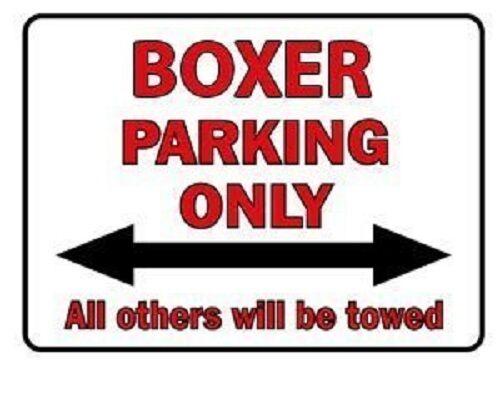 Schild Parkschild Neu 40 x 30 cm Parking only Boxer 308845-5