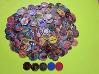 Lot Of 1000 Assorted Pogs W/ 5 Free Slammers Pogs