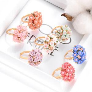 Adjustable-Resin-Rose-Flower-Butterfly-Finger-Rhinestone-Rings-Fashion-Jewelry