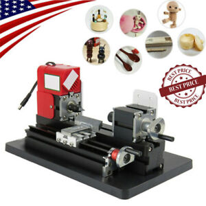 NEW-Mini-Small-Metal-Lathe-Machine-Saw-Combined-Motorized-Tool-24W-Good