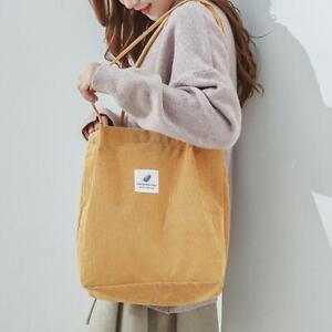 Casual-Women-039-s-Canvas-Corduroy-Tote-Bags-Handbag-Ladies-Shoulder-Bag-x-1
