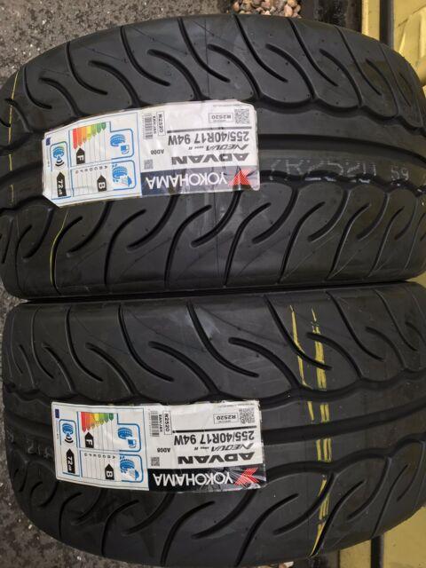 2x 255/40 R17 Yokohama AD08R (AD08-R)Track Day/Race/Road Brand-New Tyres