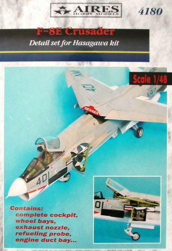 Aires 1 48  F-8E Crusader Detail Set for Hasegawa kit