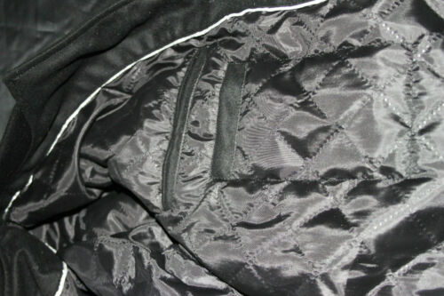 Varsity Letterman baseball Black Wool and genuine leather sleeves Jacket hi-203
