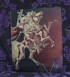 Haunted-Mansion-Changing-Picture-Lenticular-Black-Knight-Skeleton-Disneyland-D23