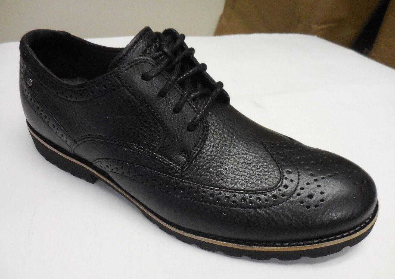 Rockport Men's Ledge Hill Wingtip Black Lace-Up Dress shoes 62 Sizes  9 &10 M