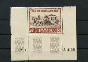 Germany-Saar-Saarland-vintage-yearset-1950-Mi-291-Br-Mint-MNH-2