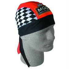 Miller MGD Beer Checkered Flag Racing Durag Biker Doo Rag Headwrap Skull Cap