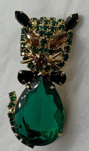 Estate Vintage Alice Caviness Emerald Citrine Blac