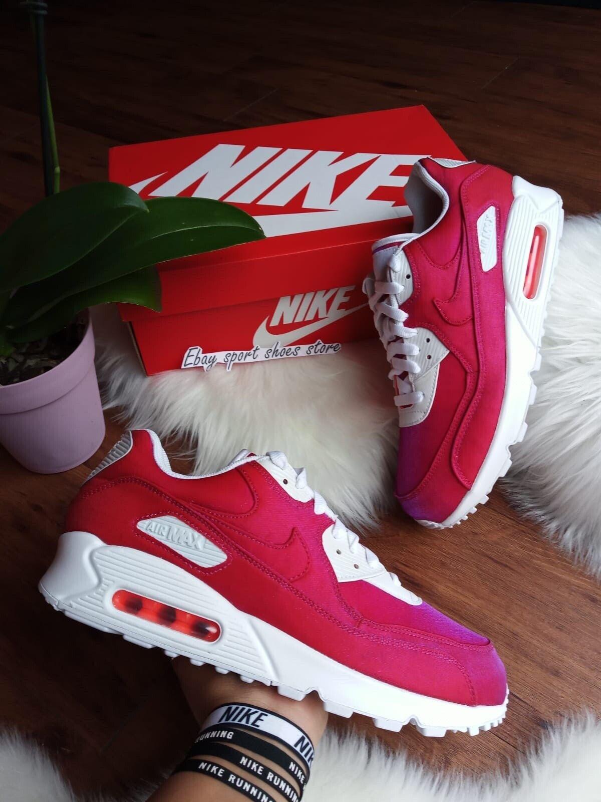 10 Wmns   8.5 Homme Nike Air Max 90 SE Hyper Crimson 881105 800 Chaussures De Course