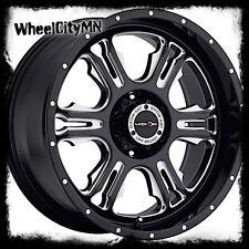 20 inch black milled Vision Rage 397 wheels rims Dodge Ram 1500 20x9 5x5.5 +12