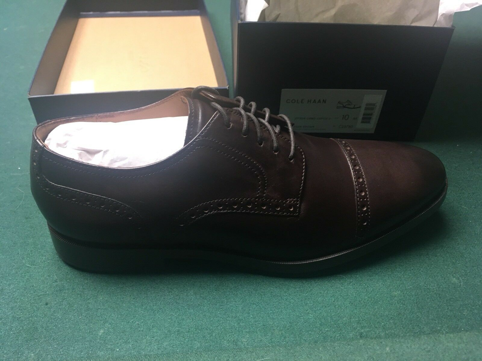 New Cole Haan Jefferson Grand Cap Ox II Oxford Brown Leather 10m