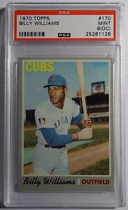 1970 TOPPS BILLY WILLIAMS HOF #170  PSA 9 OC NICE ENLARGE THE SCAN CUBS (925)