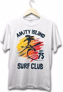 Amity-Island-Surf-CLub-Jaws-Great-White-Shark-Scary-Beach-Movie-New-Mens-T-Shirt