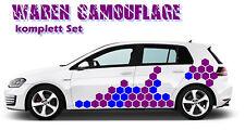 Waben Muster Autoaufkleber Aufkleber Sticker Cyber Camouflage Pixel einzeln