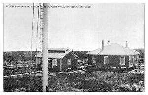 Early-1900s-Wireless-Telegraph-Station-Point-Loma-San-Diego-CA-Postcard-5A