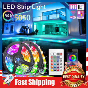 32.8FT LED Strip Lights RGB 5050 Color Changing Music Sync Room Tape Light
