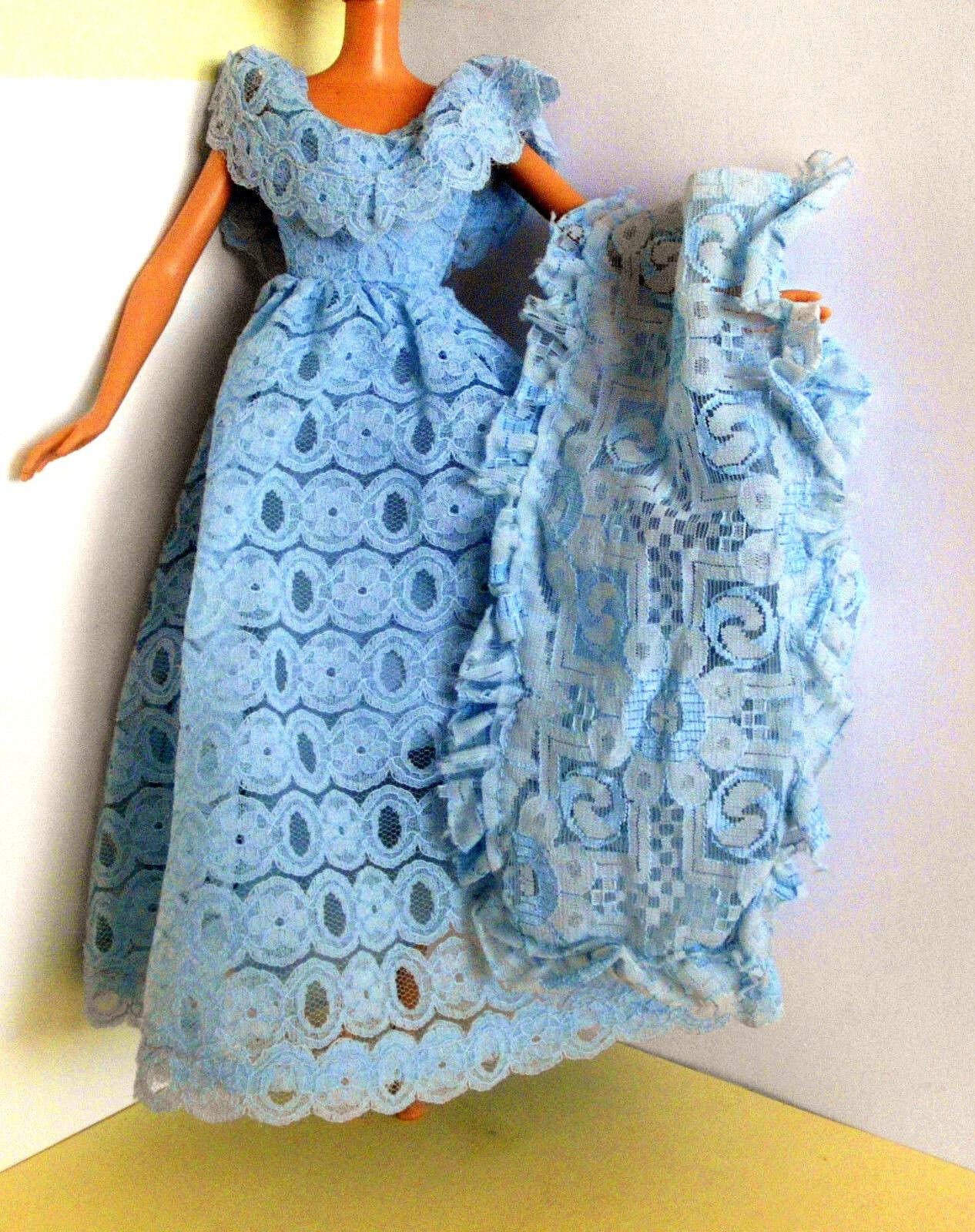 °° Petra Plasty Vintage Kleid - Petra Excluxiv 1977 - Kleid mit Stola °°    Preisreduktion