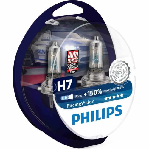 Philips RacingVision H7 12972RVS2 150/% more light on the road Twin