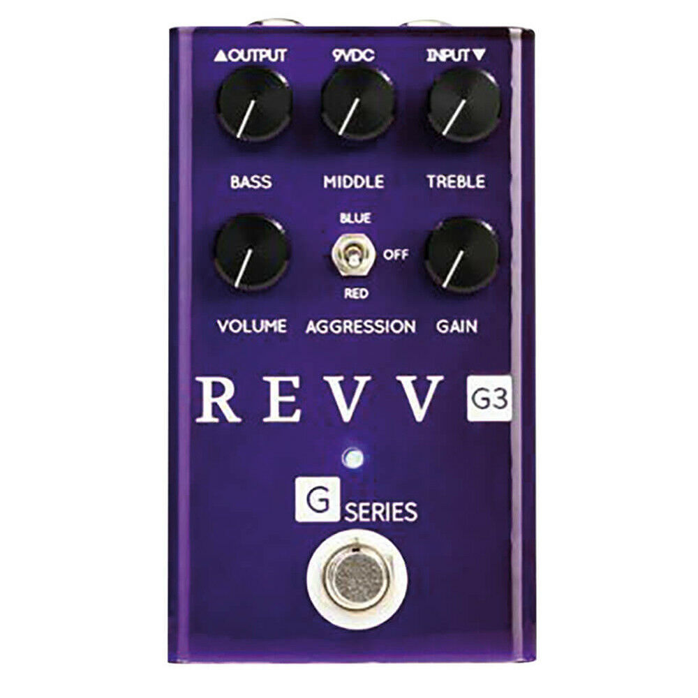 Amplificación Revv Revv Revv Pedal Efecto Distorsión para Guitarra G3  mejor reputación
