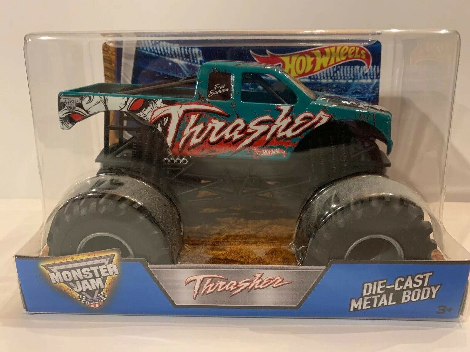2016 1 24 Hot Wheels Monster Jam Thrasher Truck Diecast Brand New Rare For Sale Online