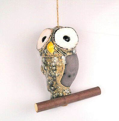 Vogel Dekofigur Gartenschmuck  Keramikfigur Vogel  30 cm Gartenfigur  Handarbeit