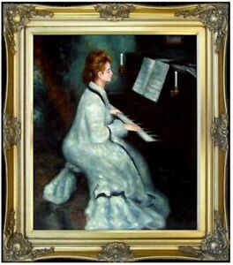 Framed-Pierre-Renoir-Lady-at-the-Piano-Repro-Hand-Painted-Oil-Painting-20x24in
