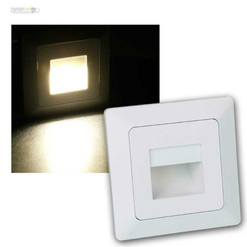 LED Wand-Einbaustrahler Lampe für UP-Schalter-Dose 230V Serie MILOS Leuchte