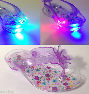 Okie Dokie Jacey Girls Clear Light Up Heel Toddler Sandals ...