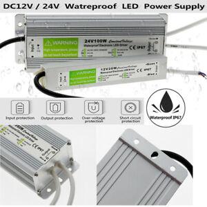 240V-DC12V-24V-LED-Waterproof-IP67-LED-Driver-Power-Supply-Transformer-Strip-UK