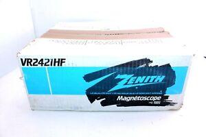 Vintage-Zenith-Black-Hifi-On-Screen-Programming-4-Head-HQ-VHS-VR2421HF