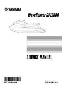 yamaha waverunner gp1200r repair service manual 2000 2001 2002 lit rh ebay com 2001 Yamaha Jet Ski 2001 Yamaha GP 1200R