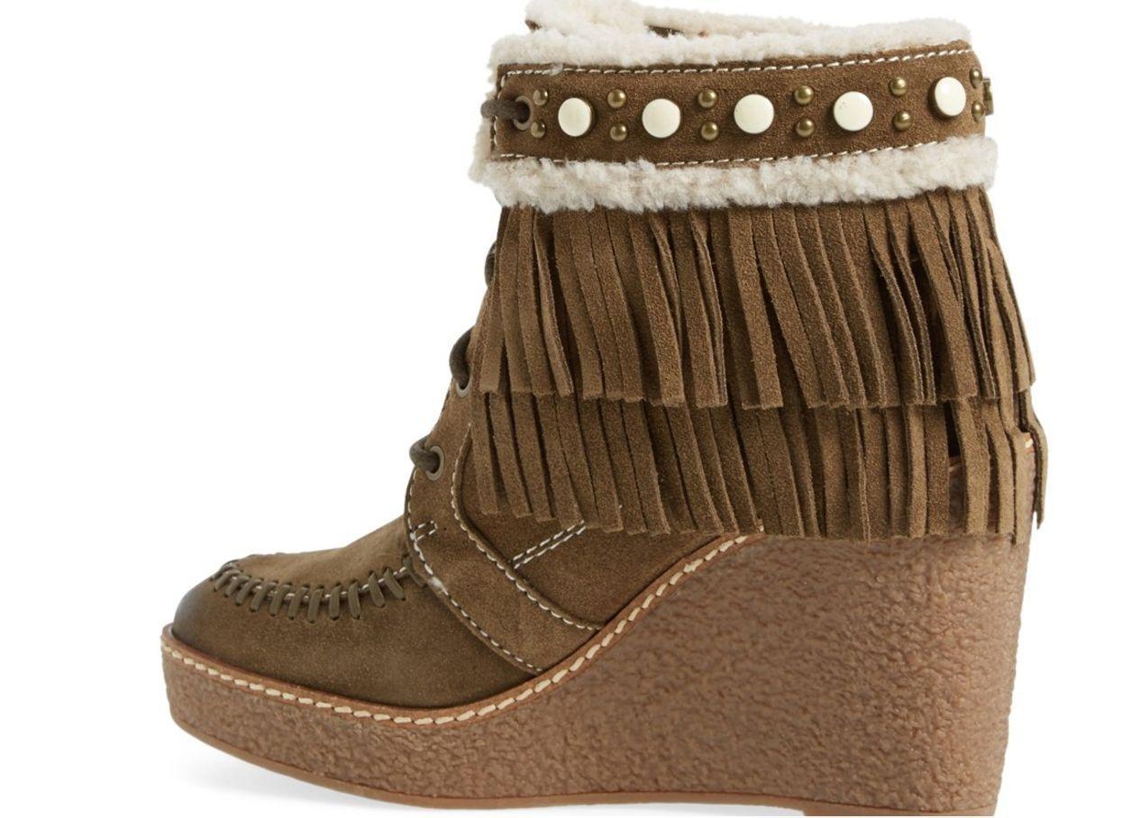 Nueva Sam Edelman Kemper Flecos Gamuza Cuero Cuero Cuero Tobillo Botines botas Para Mujer 8 37de80