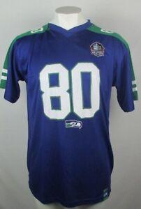reputable site 3d321 da009 Details about Seattle Seahawks Steve Largent #80 Hall Of Fame Men's NFL  Player Jersey XLT-6XL