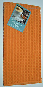 THICK-Micro-Fiber-WAFFLE-DISH-TOWEL-Cotton-Yellow-GOLD-tea-drying-cloth-Kay-Dee