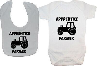 Trainee Digger Driver Baby Grow Romper Bodysuit Vest 0-24m Builder Farmer Unisex