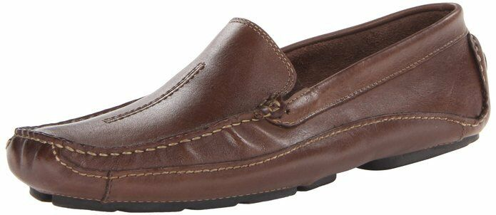 Clarks Mens MANSELL Brown Leather Slip On Loafer shoes 87706